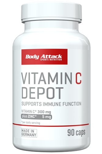 Body Attack Vitamin C-Depot plus Zinc 100 capsules