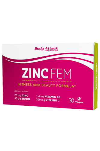 Body Attack Zinc FEM - 30 Caps