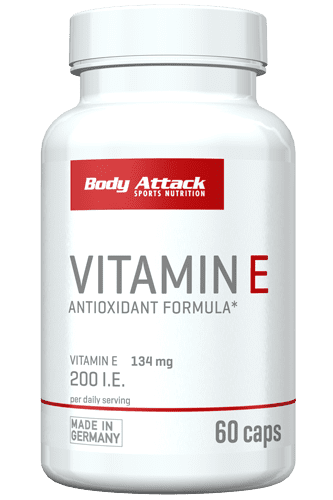 Body Attack Vitamin E - 60 Caps